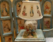 12th Scale dolls house Peter Rabbit & Friends ceramic table Lamp