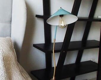 brass modern tripod floor lamp