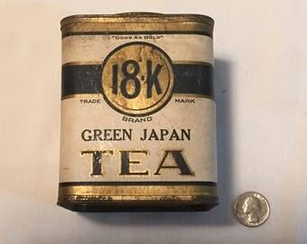 Antique 18-K Tea Advertising Tin