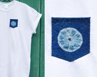 Sun Print Pocket T-Shirts // citrus pattern