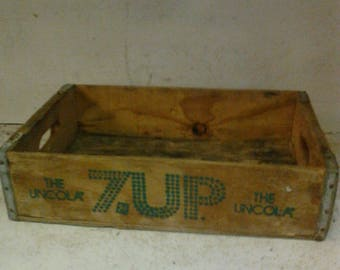 Wooden 7 UP case