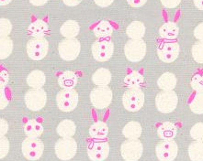 Snow Babies in Neon- Noel by Cotton and Steel- Holiday Fabric