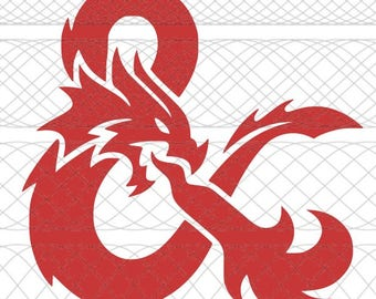 Dungeons & Dragons Logo SVG, PNG, and STUDIO3 Cut Files for Silhouette Cameo/Portrait and Cricut Explore DIY Craft Cutters