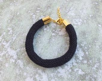 Black rope bracelet Summer Bracelet Cord Bracelet Bohemian Bracelet, Friendship Bracelet, Beach Bracelet