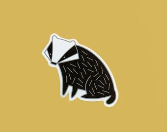 Badger Vinyl Sticker