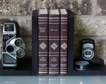 Vintage Tower Camera Bookends - DVD Holder - Movie Theater Decor