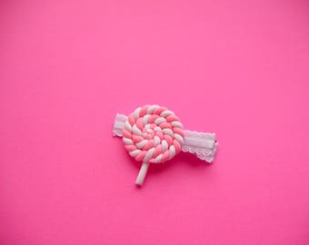 The Braided Lollipop Headband or Hair Clip