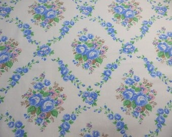 Vintage French floral fabric.