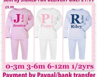 Personalised pyjamas any name made to order