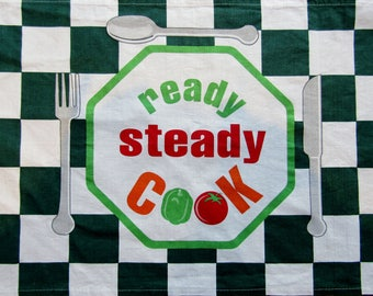 Ready Steady Cook Tea Towel - FREE POSTAGE