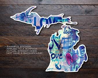 Michigan Mitten Vinyl Decal Sticker A20