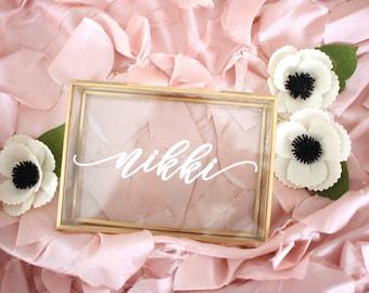Bridesmaid Gift / Bridesmaid Proposal / Personalized Glass Box / Personalized Jewelry Box / Bridesmaid Gift Personalized Gift Maid of Honor