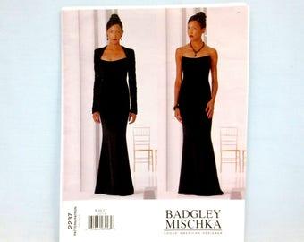 "Vogue 2237 Misses' Bolero & Dress Size 8-10-12 Bust 31-1/2 - 34"" Uncut FF Vogue Fashion Evening Formal Wear Badgley Mischka 2001"