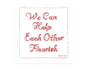We Can Help Each Other Flourish Stickers - Sticker Pack Sticker Art Sticker Set Laptop Sticker for Laptop Art sticker