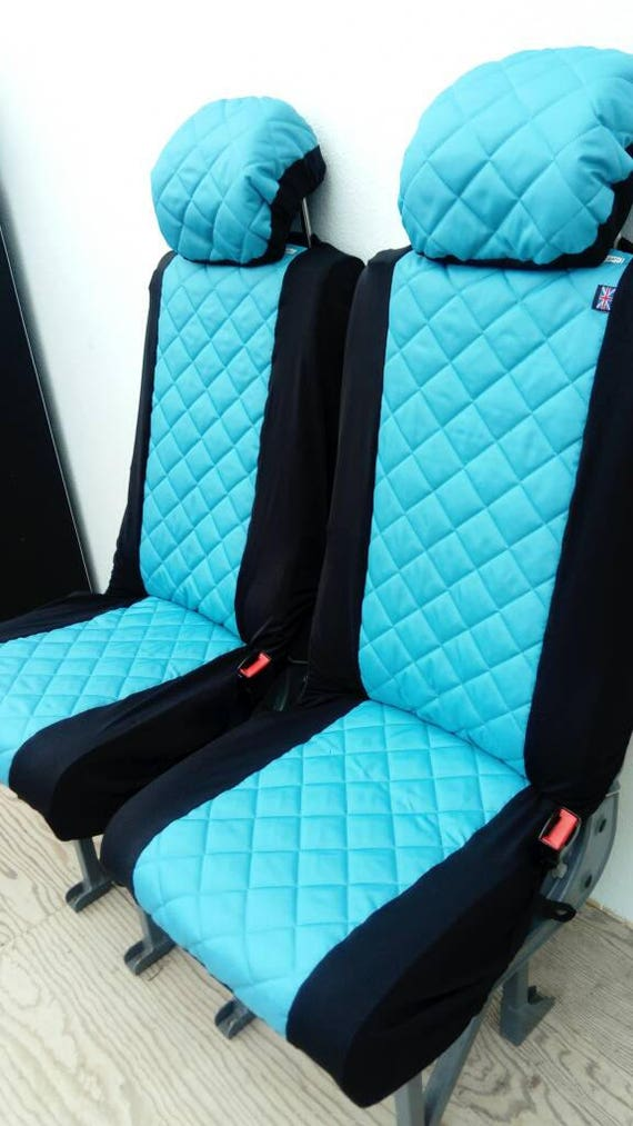 Padded Blue Waterproof Car Seat Covers Car Front Seat Covers
