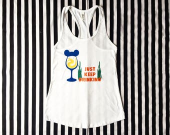 Nemo Just Keep Drinking Drinking Woman's Tank Top