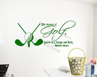 10% OFF Golf Ball Wall Stickers Mike Weir Golfer Quote Vinyl Wall Art  Sports Theme Part 55