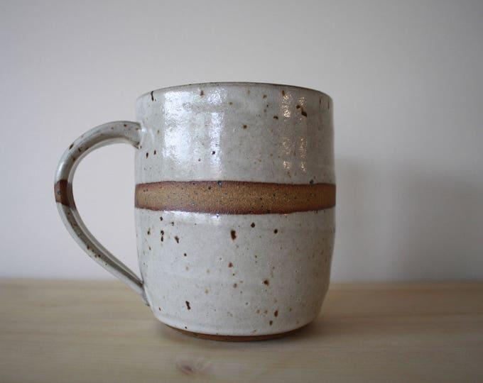 Coffee Mug - Ceramics & Pottery - White - KJ Pottery