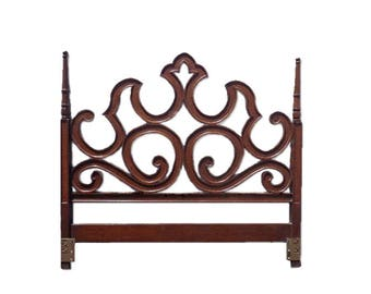 Headboard Bed Baroque Hollywood Regency French Provincial Neoclassical Shabby Chic Boho Glam Vintage Mid Century Modern CUSTOM PAINT AVAIL