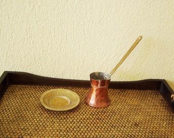 Vintage copper coffee pot, Greek coffee, coffee pot, copper brewing coffee pot, vintage copper housewares, early fifties