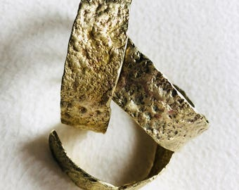 Reticulation brass cuffs