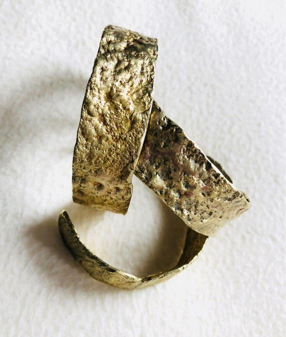 Reticulation brass cuffs