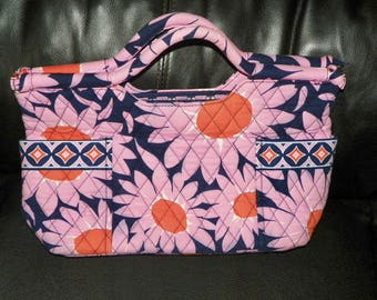 Vera Bradley LOVES ME Gabby Bag Purse Handbag Tote Retired Pattern Pink Floral