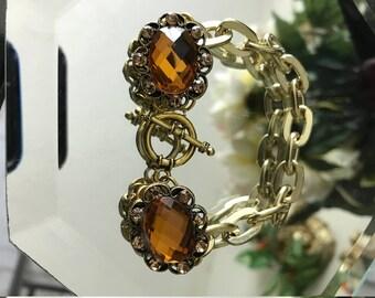 bracelet with topaz stones