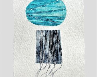 Original Monotype***Monoprint**zen**Art print**Abstract