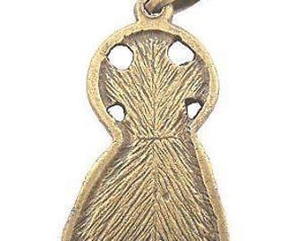 """Sacred Heart of Jesus medal - Large - Bronze (3.9cm-1.53"""")"""