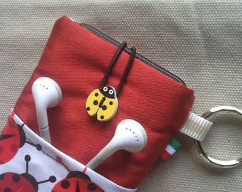 Cell phone holder ladybugs