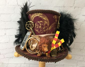 Harry Potter Mini Top Hat,  Magical Menagerie,Diagon Alley, Tea  Party Hat , Mini Top Hat Fascinator , Mini Hat Headband,Mad Tea Party hat