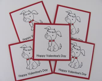Dog Valentine's Day Card, Valentine's Day Dog Cards, Mini Valentine's Day Cards, Kids Classroom Cards, Valentines Day Cards, Mini Dog Cards