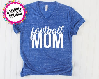 Football Mom Shirt/ Football Shirt/ School Spirit Shirt/ Football Shirts for Mom/ Game Day Shirt/ Custom Football Shirt/ School Colors Shirt