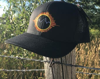 Solar Eclipse Embroidered Hat