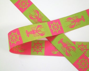 "1 m Woven Ribbon ""Lobster"" 22 mm"