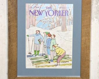 New Yorker cover January 11, 1988 with reclaimed oak boards