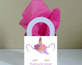 Small Boxes 3x3x2.5 inches Unicorn Favor Boxes Unicorn Favor Bags Unicorn Popcorn Boxes Unicorn Party Favors