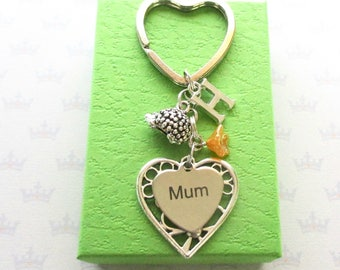 Personalised mum keyring - Birthday gift for mum - Mother's Day gift - Hedgehog keyring - Woodland animal - Hedgehog keychain - Etsy UK