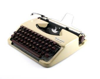 Olympia Splendid 33 Manual Typewriter - Cream and Maroon Working Typewriter - Vintage Typewriter - Excellent Condition Working Typewriter