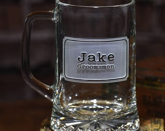 Etched Best Man Beer Mug, Groomsmen Gifts