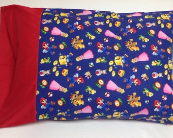 Nintendo Super Mario Characters Standard Pillowcase