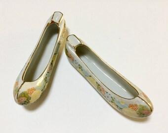 Vintage Asian Shoe Ashtrays / Ballet Shoe Ashtrays / Retro / Tobacciana / Collectibles / Mid Century