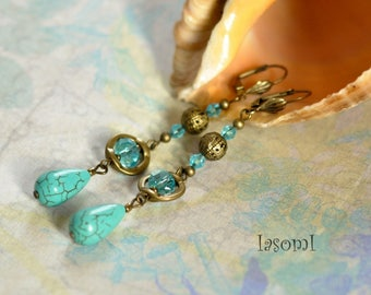 """Turquoise"" earrings"