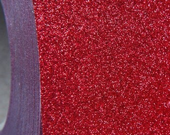 "Glitter Red 20"" Heat Transfer Vinyl Film By The Yard"