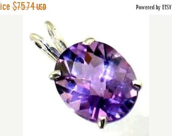 On Sale, 20% Off, Amethyst, 925 Sterling Silver Pendant, SP002