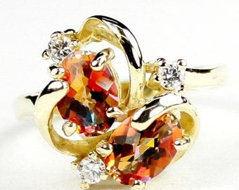 On Sale, 30% Off, Twilight Fire Topaz, 14Ky Gold Ring R016