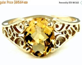 On Sale, 30% Off, Citrine, 18KY Gold Ring, R005