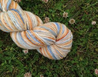 LITTLE DUCKY - Handspun Merino Worsted Weight Yarn - 236 YDS