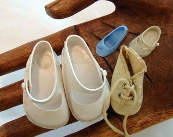 Vintage doll shoes, Fairyland doll shoes, vintage plastic doll shoes, Ginny Doll shoe, set of 5 shoes
